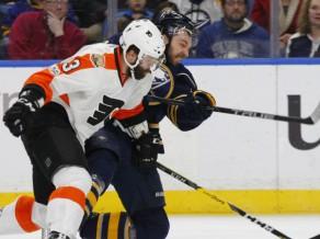 """Girgensons un """"Sabres"""" turpina sekmīgo spēļu sēriju un pieveic """"Flyers"""""""
