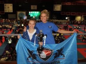 """Latvijas kikboksere Millere uzvar """"Irish Open"""" sacensībās Īrijā"""