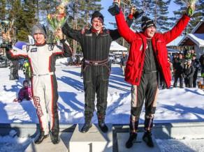 Latviešu SRT komandas pilots izcīna otro vietu ledus rallijkrosa sacensībās