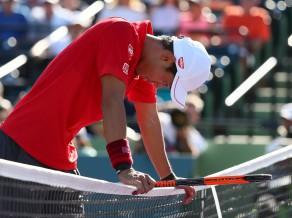 Kārtējais savainojums aptur Nišikori Maiami turnīra ceturtdaļfinālā