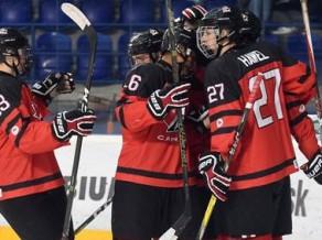 Kanādas U18 vēlreiz ielaiž vairākumā, bet beigās sakauj Šveici