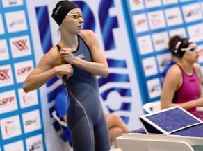 Peldētāja Ņikitina uzlabo Latvijas rekordu 50 metros brīvajā stilā
