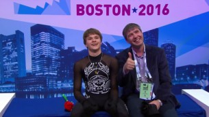 Video: Vasiļjevs rāda garo programmu pasaules čempionātā Bostonā