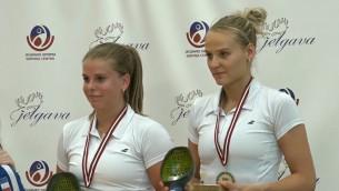 """Video: Kūba un Rītela kļūst par """"Yonex Latvia International"""" dāmu dubultspēļu čempionēm"""