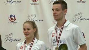 """Video: """"Yonex Latvia International"""" jauktajās dubultspēlēs čempionu tituls nonāk pie Polijas dueta"""