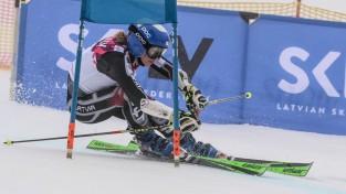 Gasūna pasaules čempionātā iekļūst labāko četrdesmitniekā milzu slalomā
