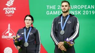 Šāvēji Strautmanis un Rašmane atnes Latvijai vēl vienu Eiropas spēļu medaļu