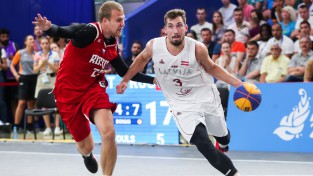 3x3 basketbola lielvalsts: Latvija izcīna sudrabu arī Eiropas spēlēs