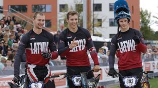 Latvija uzvar pirmajā Eiropas BMX komandu braucienā; Treimanis piekāpjas tautiešiem