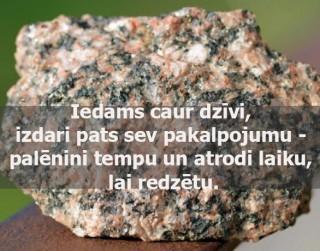 8.jūlija dienas veiksmes akmens- GRANĪTS
