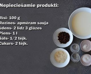 Fotorecepte: Rīsu piena zupa soli pa solim