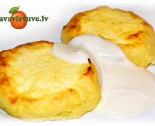 Fotorecepte: kartupeļu biezpienmaizītes soli pa solim