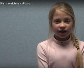 Video: Video sveiciens no bērniem - Latvijai