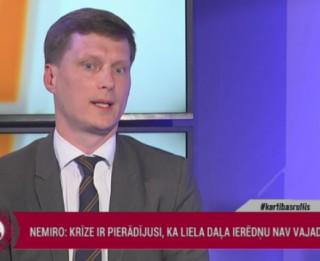 Video: Nemiro: Krīze ir parādījusi, ka liela daļa ierēdņu nav vajadzīgi