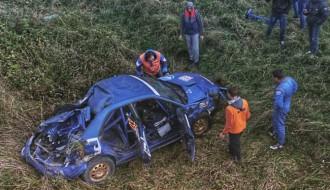 Video: Lietuviešu iznīcinātais ''Subaru'' pēc smagās avārijas
