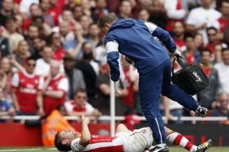 """""""Arsenal"""" aizsargam Debušī jāizlaiž trīs mēneši"""