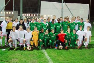 """LMT Futbola akadēmija viesojas """"Bayern"""" stadionā un sekmīgi cīnās ar """"Augsburg"""" jauniešiem"""