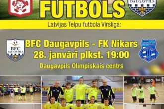 Latvijas telpu futbola grandu duelis tiešraidē Sportacentrs.com