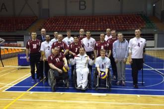 Sēdvolejbola izlase ieņem trešo vietu Rīgas kausa izcīņā