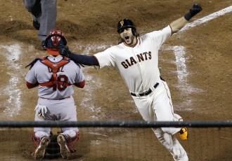"""Foto: Sanfrancisko """"Giants"""" 23. reizi uzvar Nacionālajā līgā"""