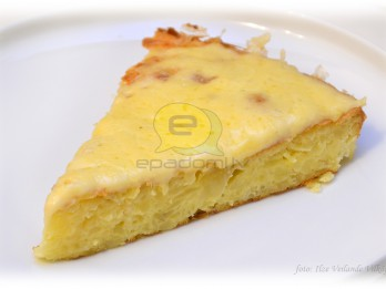 Fotorecepte: kartupeļu pudiņš ar sieru