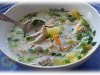 Fotorecepte: vistas zupa ar kausēto sieru soli pa solim