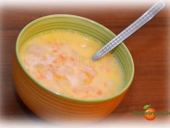 Fotorecepte: piena zupa ar kabačiem