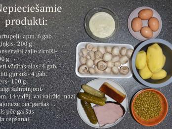 Fotorecepte: Kartupeļu salāti soli pa solim