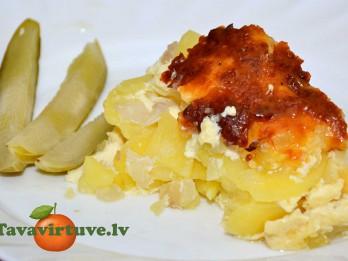 Fotorecepte: kartupeļu sacepums