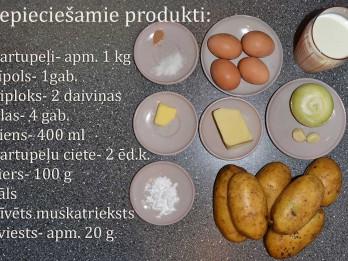 Fotorecepte: Kartupeļu sacepums soli pa solim