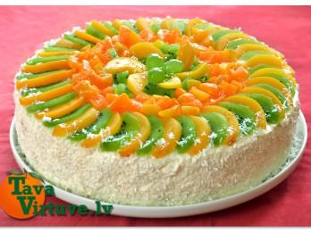 Fotorecepte: Māmiņdienas biezpiena torte