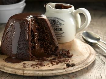 Kausētās šokolādes pudiņkūkas