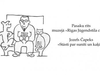 """Muzejs """"Rīgas Jūgendstila centrs"""" aicina uz pasaku rītu  """"Stāsti par sunīti un kaķīti"""""""
