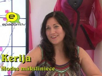 """Video: """"Mode ir drosme"""": intervija ar modes mākslinieci dizaineri Keriju"""