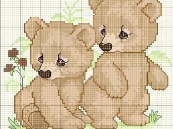 Izšūšanas shēmas ar lāču attēliem taviem rokdarbiem