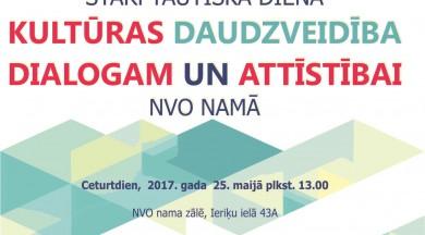NVO namā atzīmēs Kultūras daudzveidībai veltītu dienu