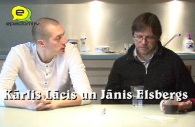 """Video: """"Raiņa fani neesam, bet skolā lasījām, kas jālasa.."""":intervija ar mūzikla """"Pūt vējiņi"""" autoriem Kārli Lāci un Jāni Elsbergu"""