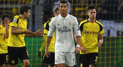 """F grupa: """"Borussia"""" divreiz atspēlējas un izrauj neizšķirtu pret Madrides """"Real"""""""