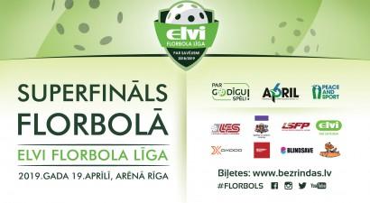 Uzsākta biļešu tirdzniecība uz ELVI florbola līgas Superfinālu