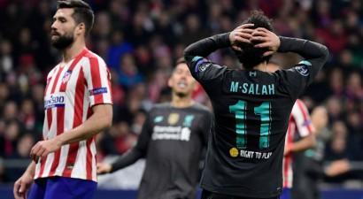 """Čempione """"Liverpool"""" Madridē vārtus negūst un zaudē """"Atletico"""""""