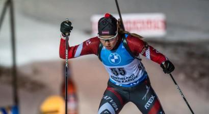 Ēberga vēlreiz uzvar sprintā, Sabulei precīza šaušana un jauns karjeras rekords