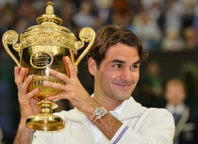 Federers 7.reizi triumfē Vimbldonā, atgriezīsies ranga virsotnē