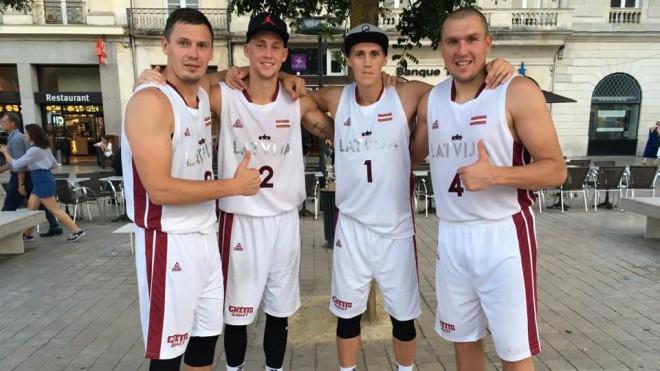 Latvijas 3x3 basketbolisti ar divām uzvarām sāk Eiropas čempionu titula aizstāvēšanu