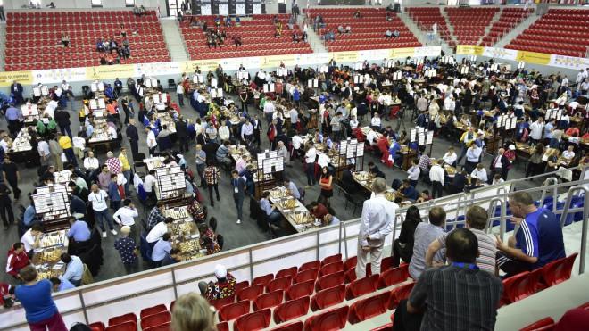 Latvijas dāmām neizšķirts šaha Olimpiādes otrajā kārtā, vīriem pirmā neveiksme