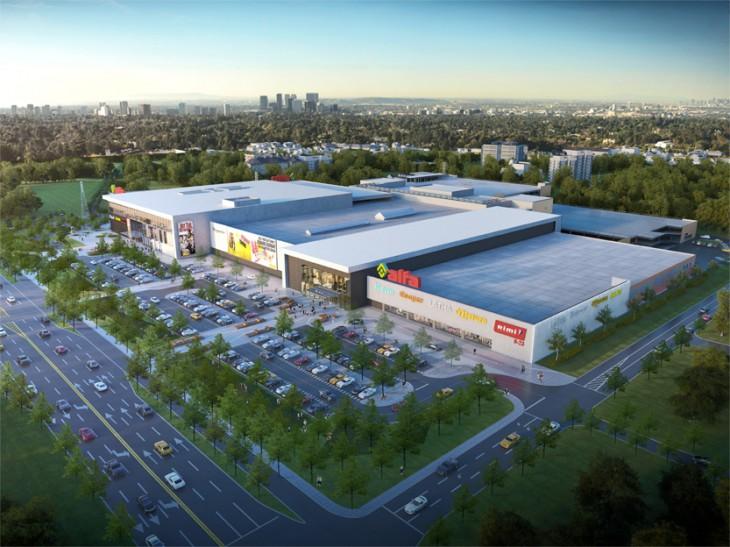 """Uzsāk tirdzniecības parka """"Alfa"""" paplašināšanās projektu ar kopējām investīcijām 55 miljonu eiro apmērā"""