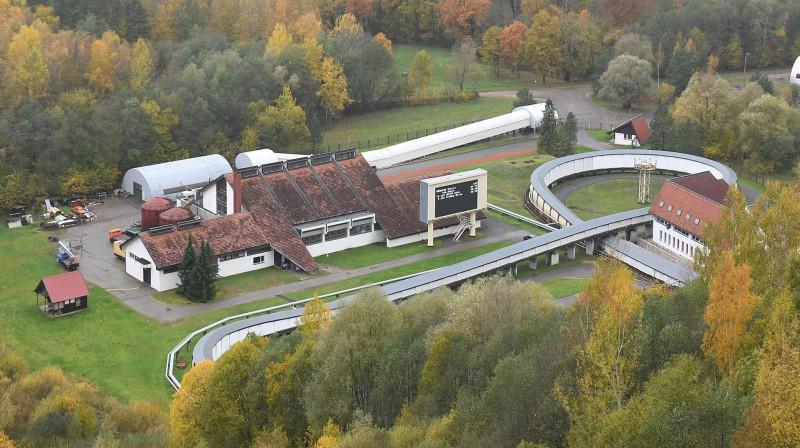 Siguldas kamaniņu un bobsleja trase. Foto: Romāns Kokšarovs, Sporta Avīze, f64