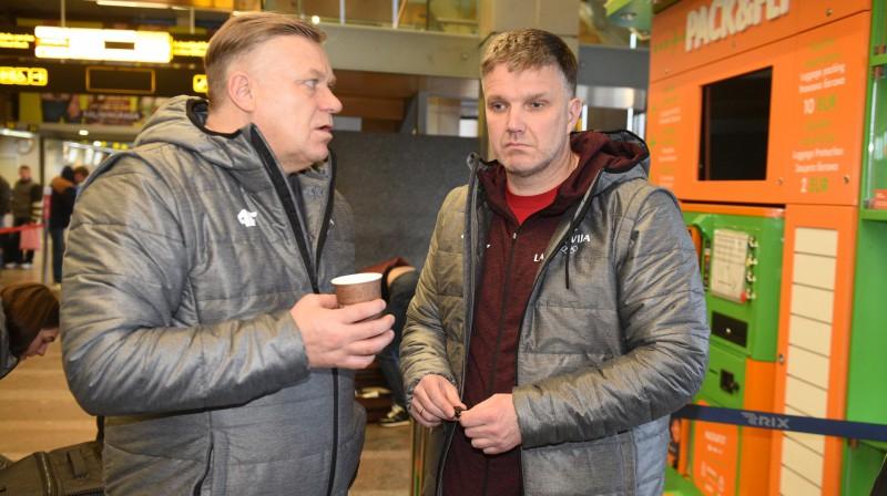 Zintis Ekmanis un Sandis Prūsis. Foto: Romāns Kokšarovs/f64