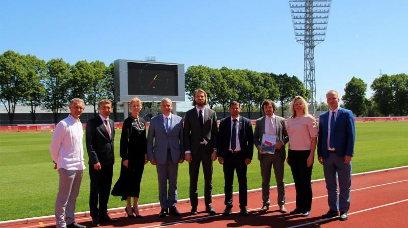 Atjaunotā Daugavas stadiona atklāšana Foto: Izglītības un zinātnes ministrija
