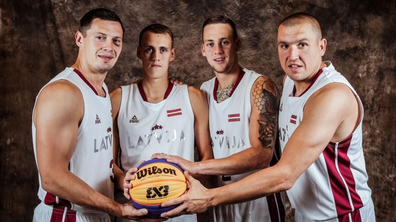 Latvijas 3x3 basketbola izlase Foto: basket.lv
