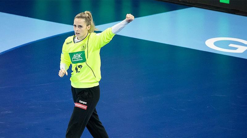 Vācijas izlases vārtsardze Dinaha Ekerle atvairīja 38 procentus no pretinieču metieniem.
